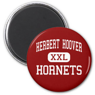Herbert Hoover - Hornets - Middle - Sioux City 6 Cm Round Magnet