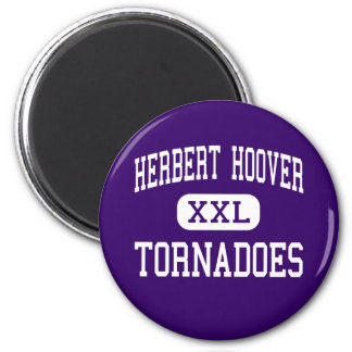 Herbert Hoover - Tornadoes - High - Glendale 6 Cm Round Magnet