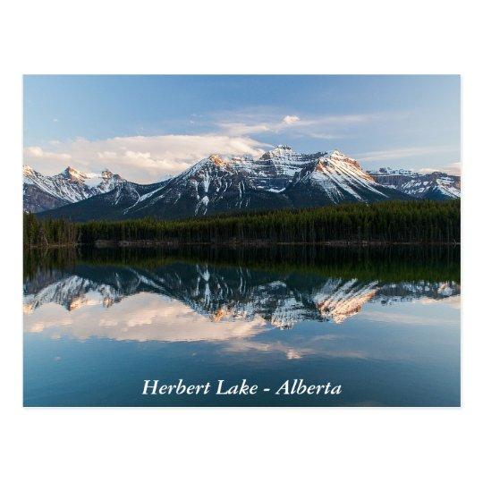 Herbert Lake, Alberta, Canada postcard