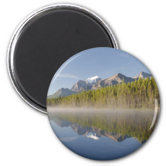 Herbert Lake at Icefields Parkway Alberta Canada 6 Cm Round Magnet