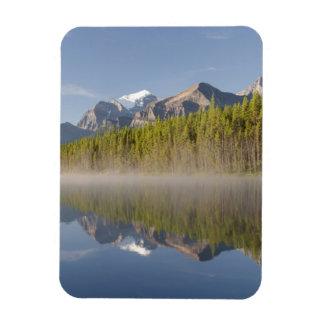 Herbert Lake at Icefields Parkway Alberta Canada Rectangular Photo Magnet