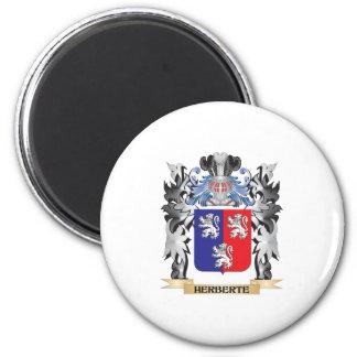 Herberte Coat of Arms - Family Crest 6 Cm Round Magnet