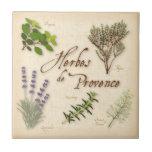 Herbes de Provence, Lavender, Thyme, Oregano Small Square Tile