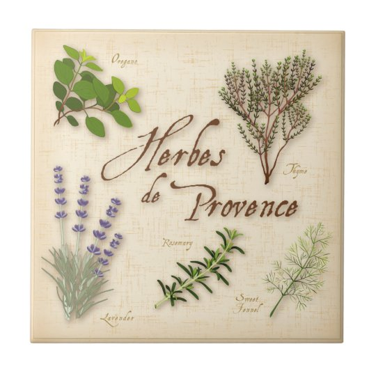 Herbes de Provence, Lavender, Thyme, Oregano Tile