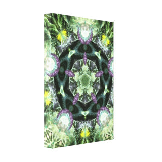 Herbilicious Geometry Fractal Mandala  Wrapped Can Gallery Wrapped Canvas