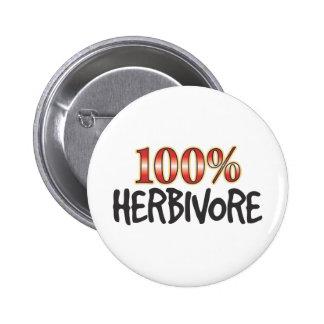 Herbivore 100 Percent 6 Cm Round Badge