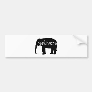 Herbivore - Elephant Bumper Sticker