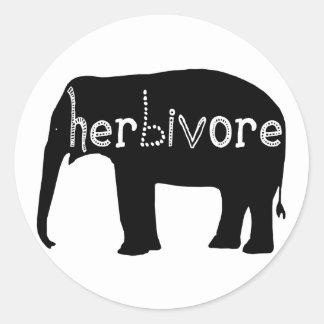 Herbivore - Elephant Classic Round Sticker