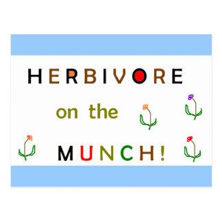 Herbivore on the Munch Postcard