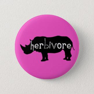 Herbivore - Rhino - Pink 6 Cm Round Badge