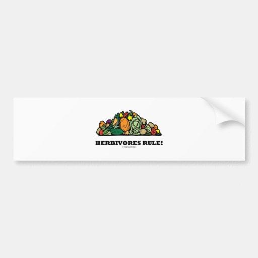 Herbivores Rule! (Pile Of Vegetables) Bumper Sticker