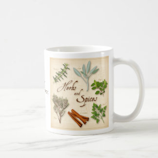 Herbs and Spices, Rosemary, Sage, Thyme, Cinnamon Basic White Mug