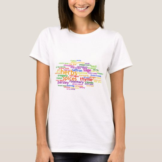 Herbs and Spices Wordle T-Shirt