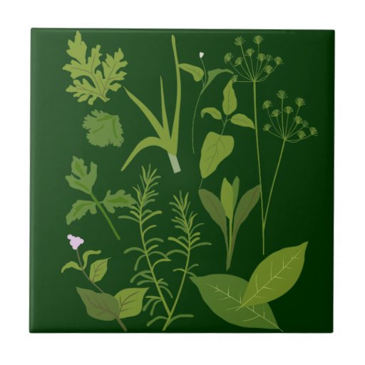 Herbs Kitchen Tile