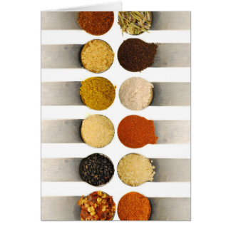 Herbs Spices & Powdered Ingredients Note Card