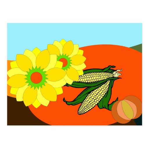 Herbst autumn postcard