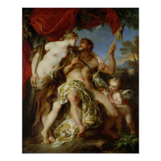 Hercules and Omphale, 1724 Poster