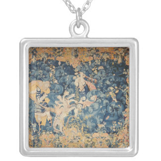 Hercules and the Lernaean Hydra Silver Plated Necklace