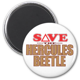 Hercules Beetle Save 6 Cm Round Magnet