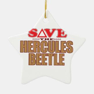 Hercules Beetle Save Christmas Ornament