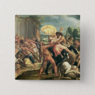 Hercules, Deianeira and the centaur Eurytion 15 Cm Square Badge