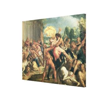 Hercules, Deianeira and the centaur Eurytion Canvas Print