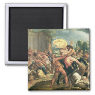 Hercules, Deianeira and the centaur Eurytion Magnet