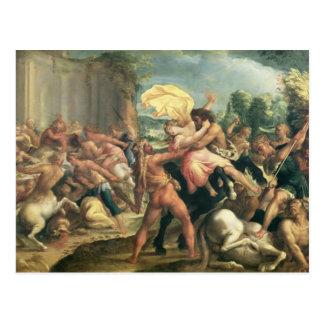 Hercules, Deianeira and the centaur Eurytion Postcard