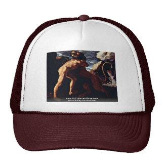 Hercules Destroyed The Lion Of Nemea Mesh Hat