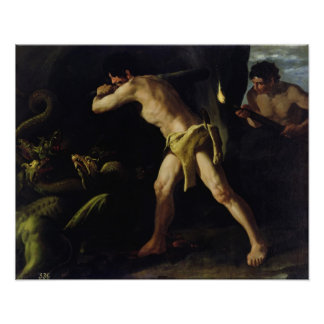 Hercules Fighting with the Lernaean Hydra Poster