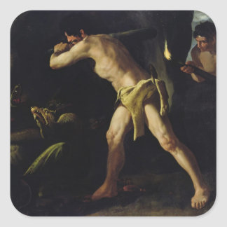 Hercules Fighting with the Lernaean Hydra Square Sticker