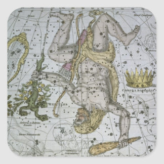 Hercules, from 'A Celestial Atlas', pub. in 1822 ( Square Sticker