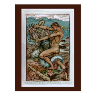 Hercules the Old Man of the Sea Post Card