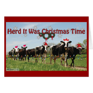 Herd it Was Christmas2 Edit Card