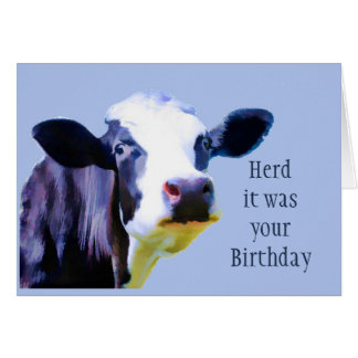 Herd it was your Birthday Hope it was Amoosing Fun Card