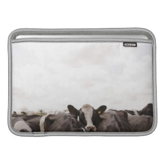 Herd of cattle and overcast sky 2 MacBook sleeve