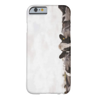 Herd of cattle and overcast sky barely there iPhone 6 case