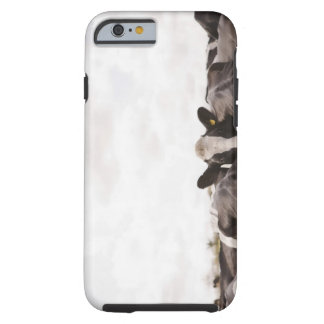 Herd of cattle and overcast sky iPhone 6 case