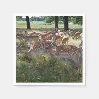 Herd of deer paper napkin