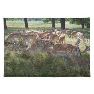 Herd of deer placemat