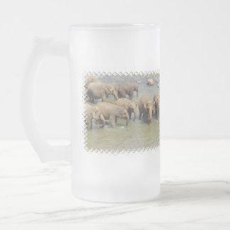 Herd of Elephants Frosted Mug