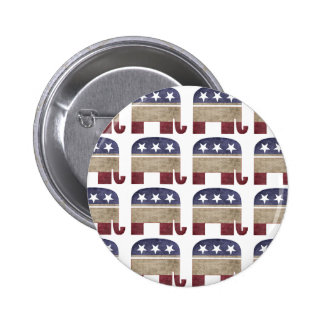 Herd of Elephants Republican 2 Inch Round Button