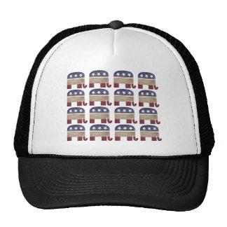 Herd of Elephants Republican Trucker Hat