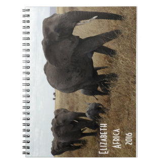 Herd of Elephants walking Notebook