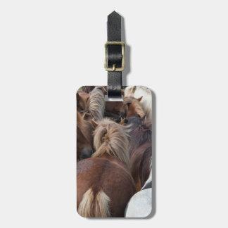 Herd of Icelandic horse Bag Tags
