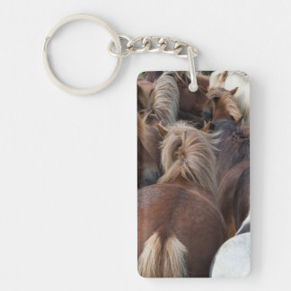 Herd of Icelandic horse Key Ring