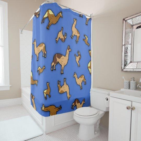 Herd of Llamas Shower Curtain