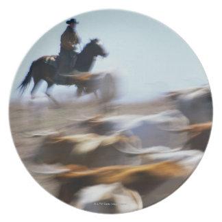 Herding Cattle Plate