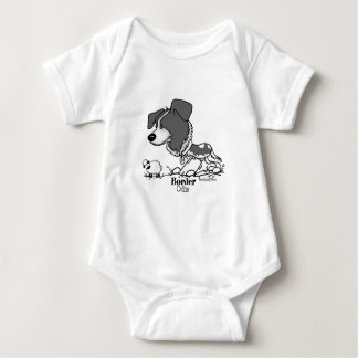 Herding Dog - Border Collie baby Baby Bodysuit