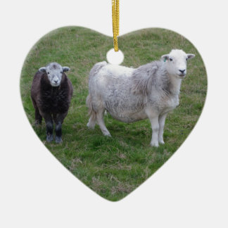 Herdwick Ewe and Lamb Heart Ornament